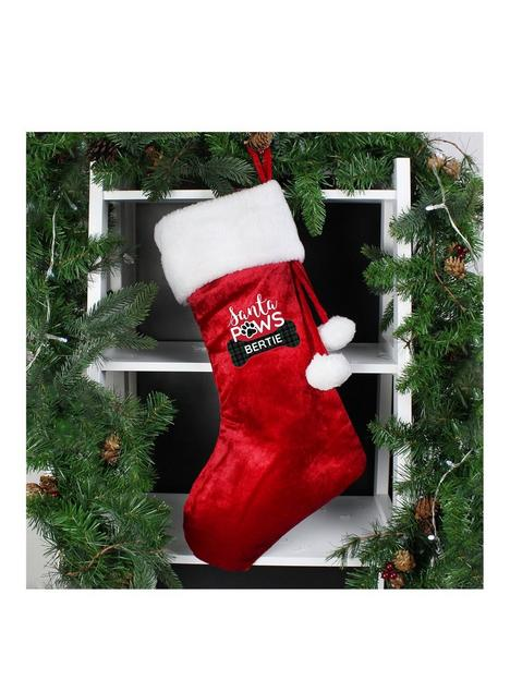 personalised-santa-paws-christmas-dog-stocking