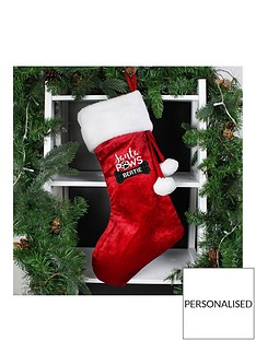 personalised-santa-paws-christmas-dog-stocking