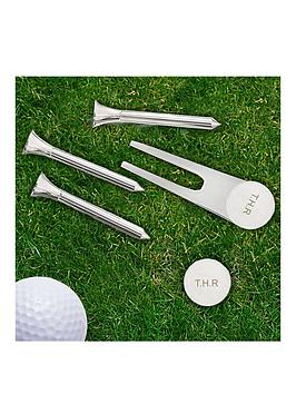 Very Personalised Golf Set Including Tees, Pitch Repairer And A Marker Pen Picture
