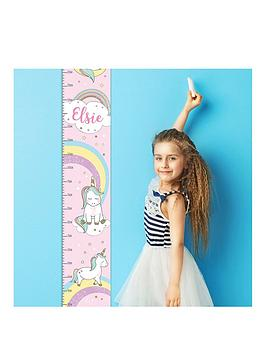 Very Personalised Unicorn Height Chart Picture
