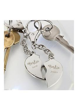 Very  Personalised #Bestie Keyring