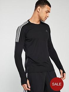 adidas-3s-long-sleeve-running-t-shirt-ndash-black