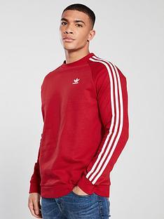 adidas-originals-3-stripe-crew-neck-sweat-red