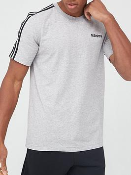 Adidas Adidas 3S T-Shirt - Medium Grey Heather Picture