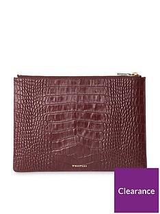 whistles-shiny-leather-croc-design-medium-clutchnbsp--plum