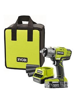 Ryobi  R18Iw3-120S 18V One+ Cordless 3 Speed Impact Wrench Starter Kit (1 X 2.0Ah)