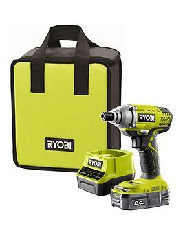Ryobi  R18Idp-120S 18V One+ Cordless Impact Driver Starter Kit (1 X 2.0Ah)
