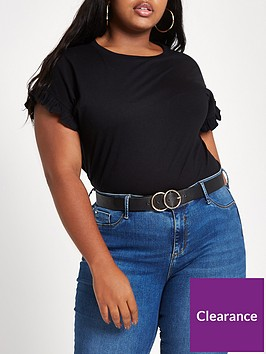 ri-plus-frill-sleeve-t-shirt-black