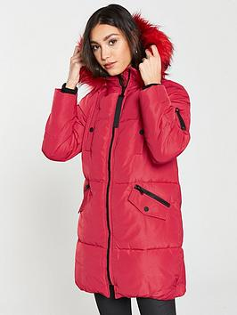river-island-faux-fur-hooded-padded-jacket-red