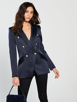 river-island-river-island-double-breasted-satin-blazer--navy