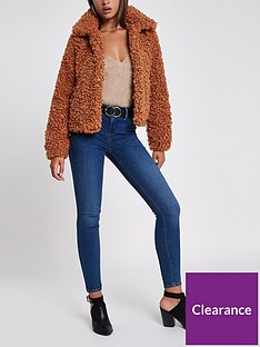 river-island-curly-faux-fur-jacket-tan