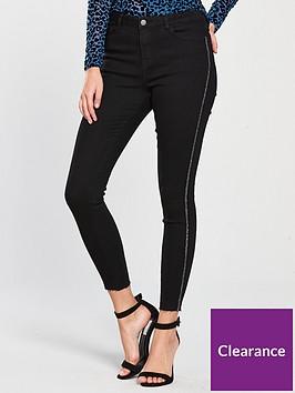 v-by-very-glitter-side-detail-super-skinny-jeans-black