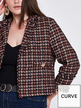 ri-plus-longline-boucle-jacket--red
