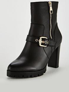 karen-millen-karen-millen-metalwork-cleat-leather-ankle-boot