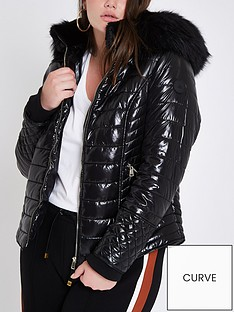 ri-plus-ri-plus-high-shine-hooded-padded-jacket--black