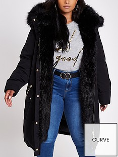 ri-plus-faux-fur-trimmed-parka--black