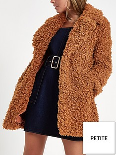 ri-petite-curly-faux-fur-coat--brown