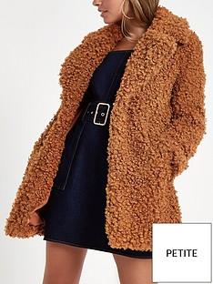 ri-petite-faux-fur-coat-brown