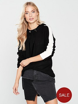 river-island-river-island-oversized-knitted-hoody--black