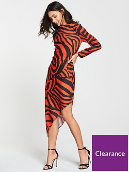 river-island-river-island-animal-print-asymmetric-dress--red