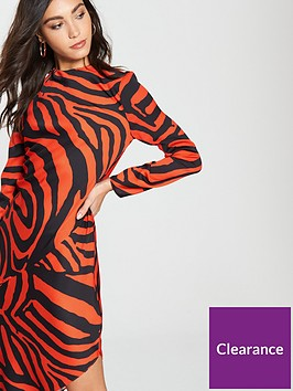 ed2efb7151ce ... River Island Animal Print Asymmetric Dress- Red. View larger
