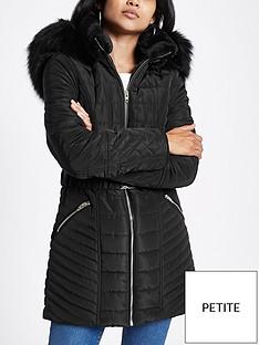 ri-petite-belted-hooded-padded-jacket--black