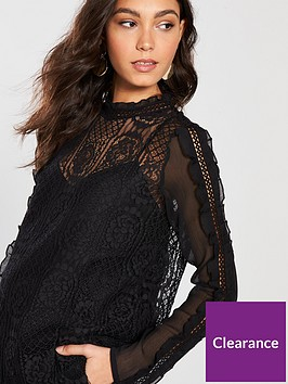 river-island-long-sleeve-lace-frill-detail-top-black