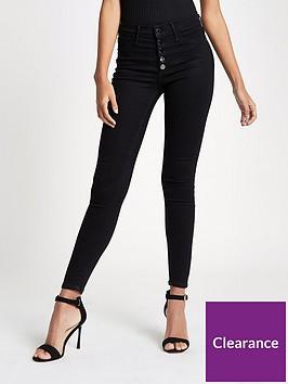 river-island-river-island-regular-length-molly-skinny-fit-jeans--black