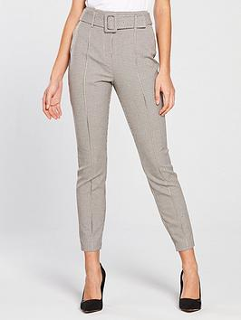 river-island-river-island-belted-ponte-check-skinny-trousers--cream