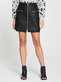 river-island-pu-biker-mini-skirt--black