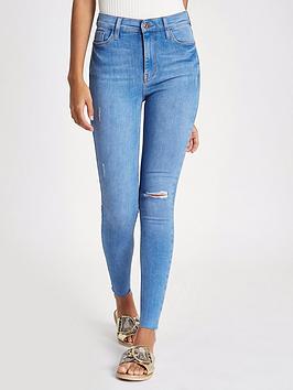 river-island-river-island-regular-length-harper-high-rise-skinny-jeans--blue