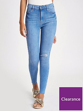 river-island-river-island-regular-length-harper-high-rise-skinny-jeans--blue