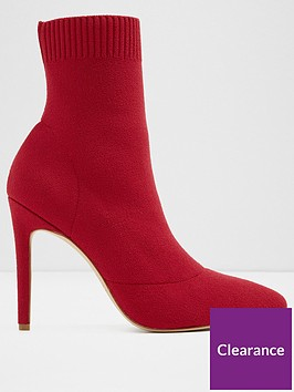 aldo-ysissa-pointed-sock-boot-red