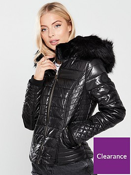 river-island-river-island-high-shine-hooded-padded-jacket--black