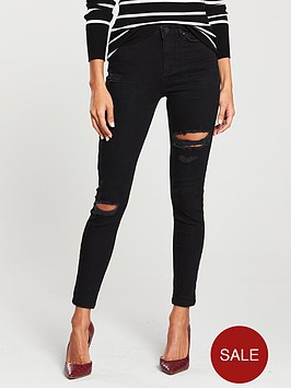 v-by-very-ella-high-waisted-all-over-rip-skinny-jeans-black