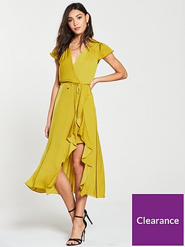 river-island-river-island-frill-detail-midi-dress-yellow