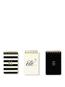 kate spade new york  Kate Spade New York Kate Spade Mini Spiral Set Of 3 Notebooks