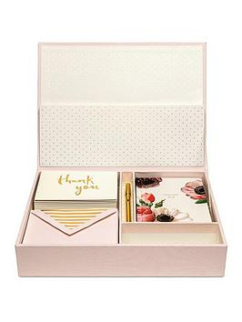 kate spade new york  Kate Spade New York Blushing Floral Keepsake Thank You Card Box