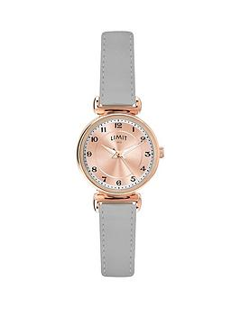 limit-rose-gold-dial-grey-leather-strap-ladies-watch
