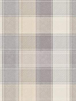 ARTHOUSE Arthouse Grey Check Wallpaper Picture