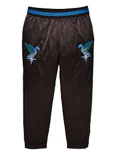 diesel-girls-satin-embroidered-trousers
