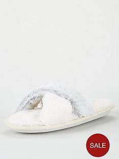v-by-very-winnie-cross-strap-slider-slipper-grey-cream