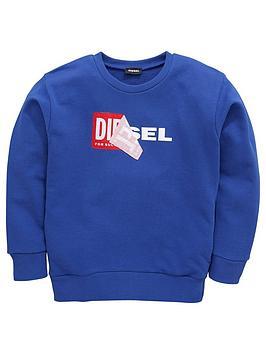 diesel-diesel-boys-double-logo-crew-neck-sweat-top