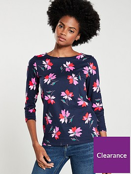 joules-harbour-floral-top-navy