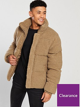 river-island-teddy-borg-padded-jacket