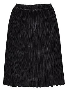 diesel-girls-metallic-pleated-skirt