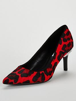 dune-london-slither-diamante-mid-heel-court-shoe-rednbsp