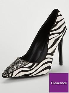 dune-london-animal-magic-jewel-toe-cap-court-shoe-monochrome