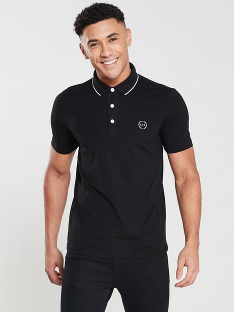armani-exchange-tipped-collar-polo-shirt-black
