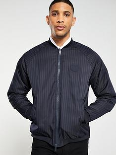armani-exchange-striped-bomber-jacket-navy